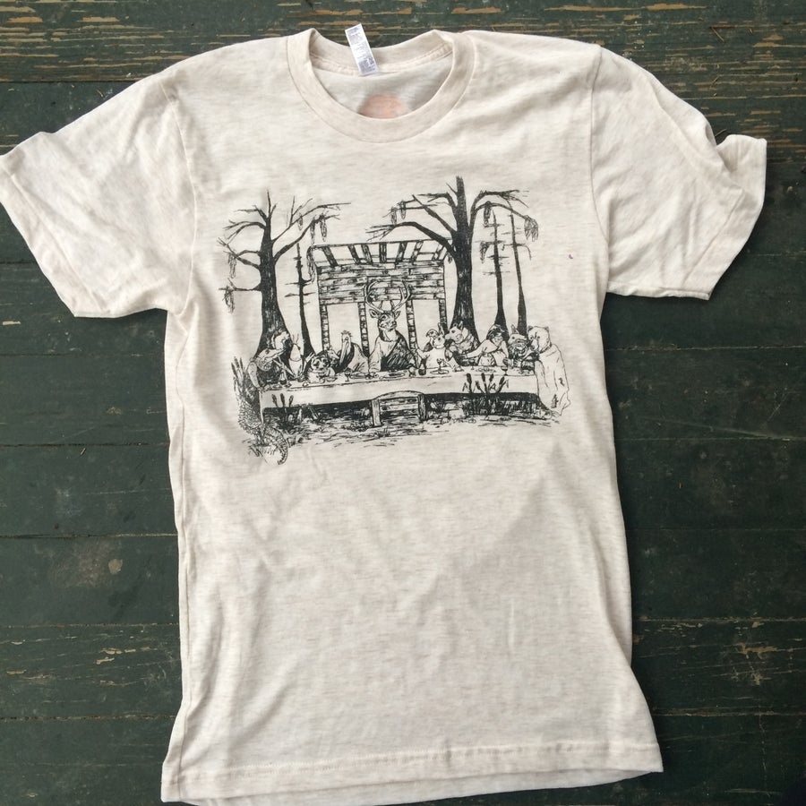 Image of Adult Last Supper Short Sleeve Tee