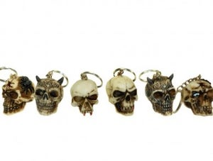 Image of Skull Keyring (pack of 3)