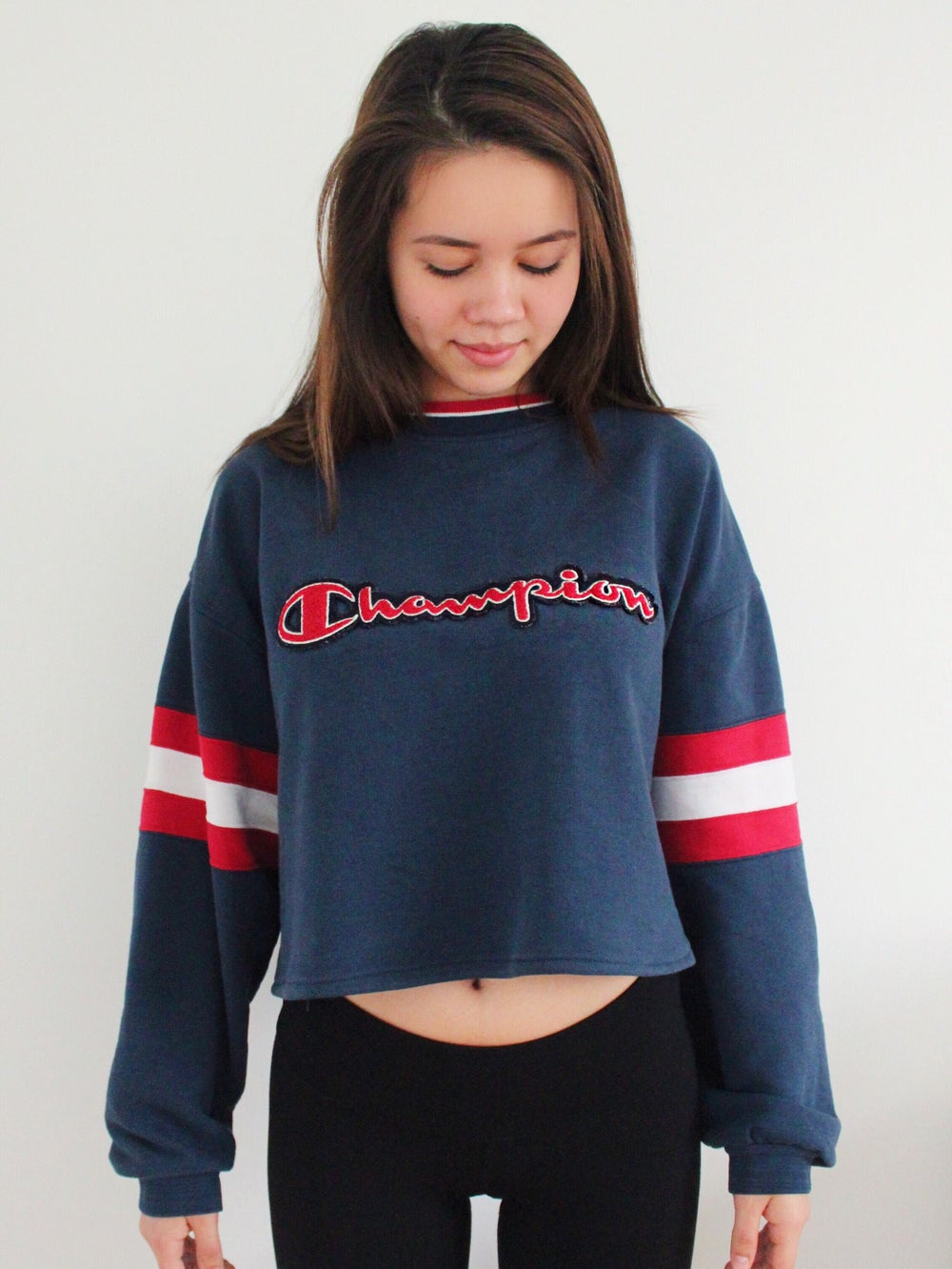 Image of VINTAGE CHAMPION CROPPED CREWNECK SWEATER (REWORKED)