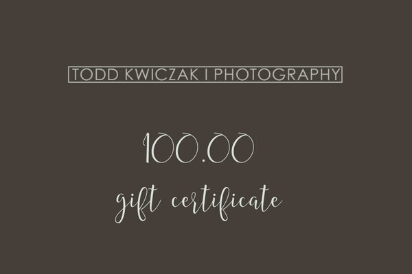 Image of 100.00 Gift Certificate