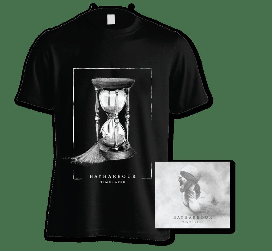 Image of 'TIME LAPSE' ALBUM + BLACK T-SHIRT