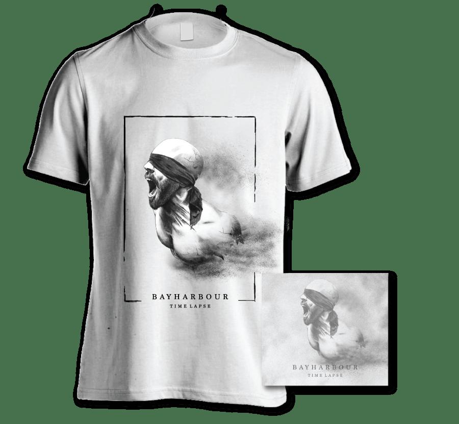 Image of 'TIME LAPSE' ALBUM + WHITE T-SHIRT