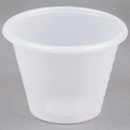 Image of 1 oz. Disposable Polypropylene Graduated Cups <p>100 pc.
