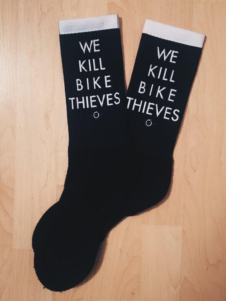 Image of We Kill Bike Thieves Socks