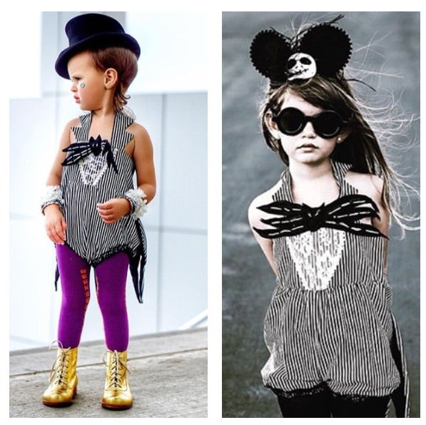 Image of Little Miss Jack Skellington Romper