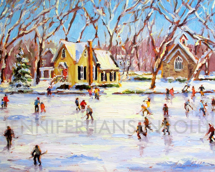 Image of Yardley Skaters giclée print