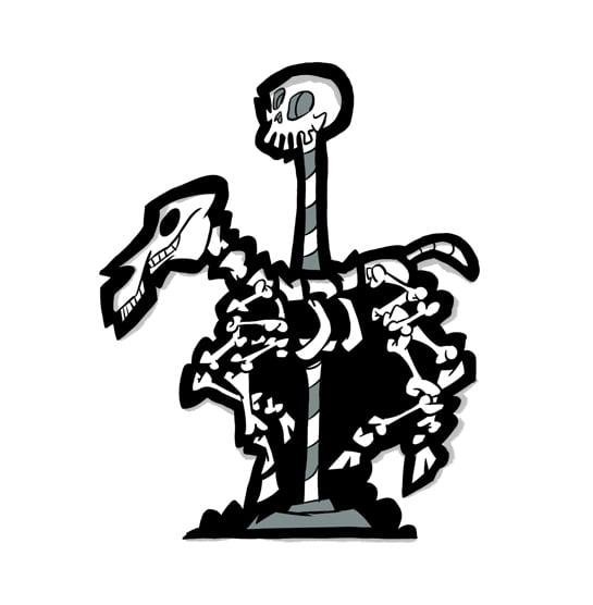 Image of Carousel of Souls Soft Enamel Pin