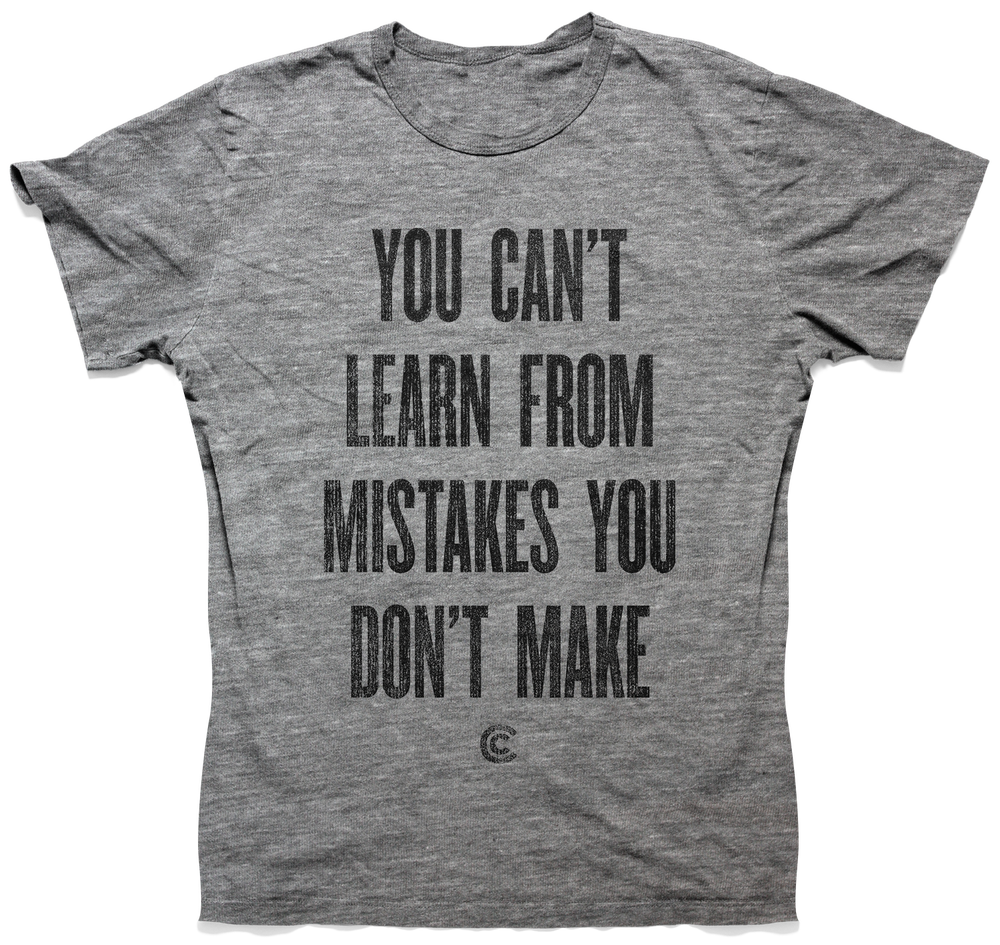 Image of Mistakes You Don't Make Unisex Tee - Heather
