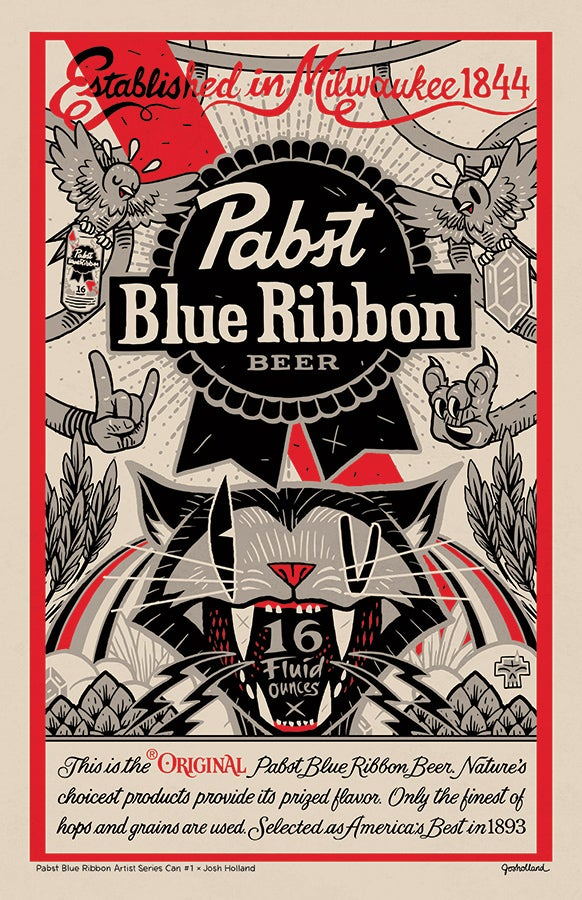 Image of PBR x JOSH HOLLAND ARTIST SERIES POSTER