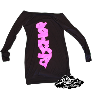 Image of Hyrografik Handstyles galdem long sleeved dress (multiple colour ways)