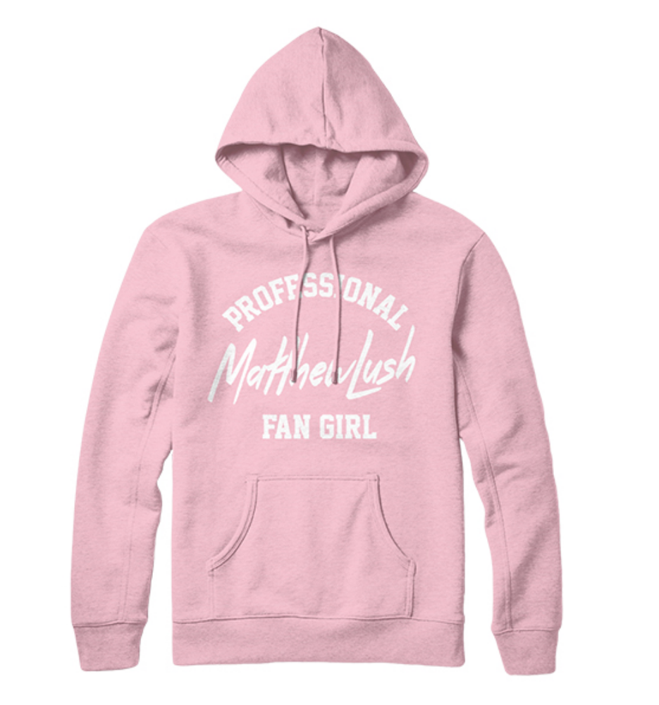 Image of LIGHT PINK FAN GIRL HOODIE