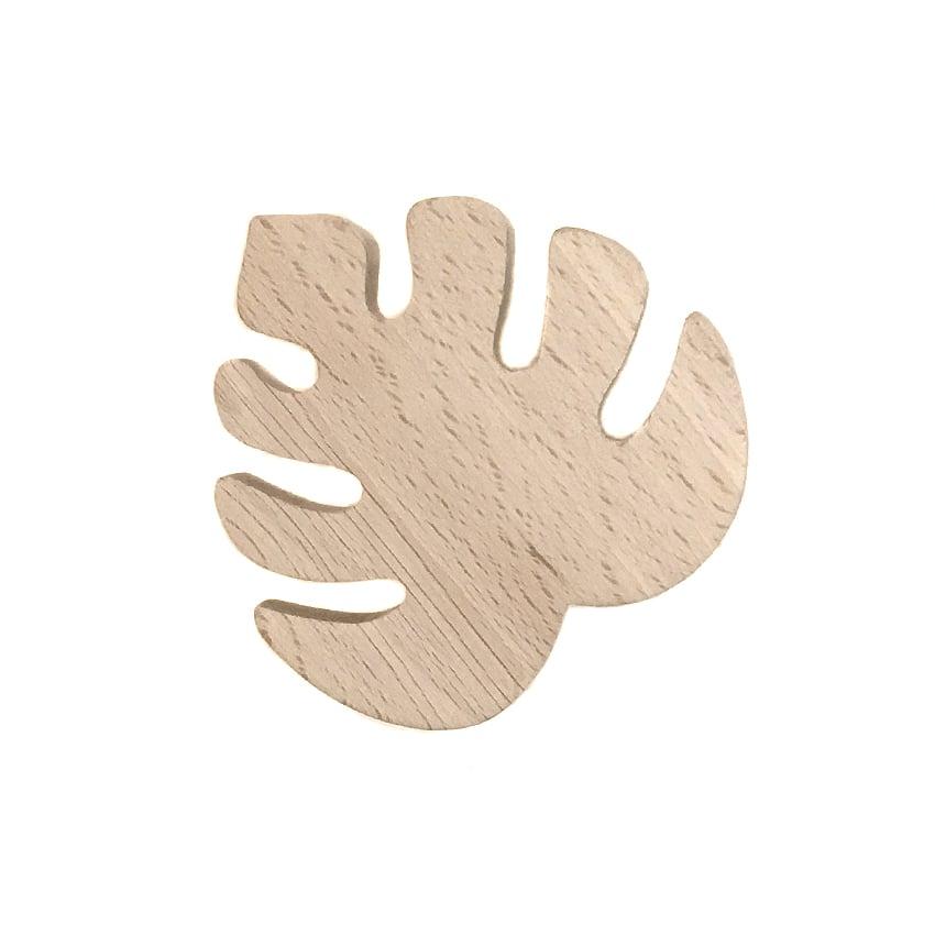 Image of Patère Monstera en bois de hêtre