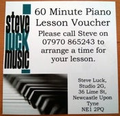 Image of Lesson Gift Voucher 60 minutes