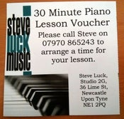 Image of Lesson Gift Voucher 30 minutes
