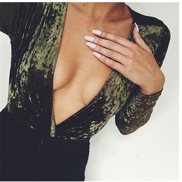 Image of Zana Bodysuit Green