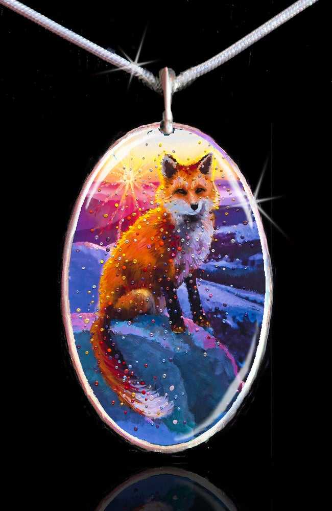 Image of Winter Fox Energy Pendant
