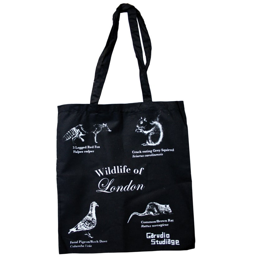 Image of Wildlife of London Tote Bag - Black