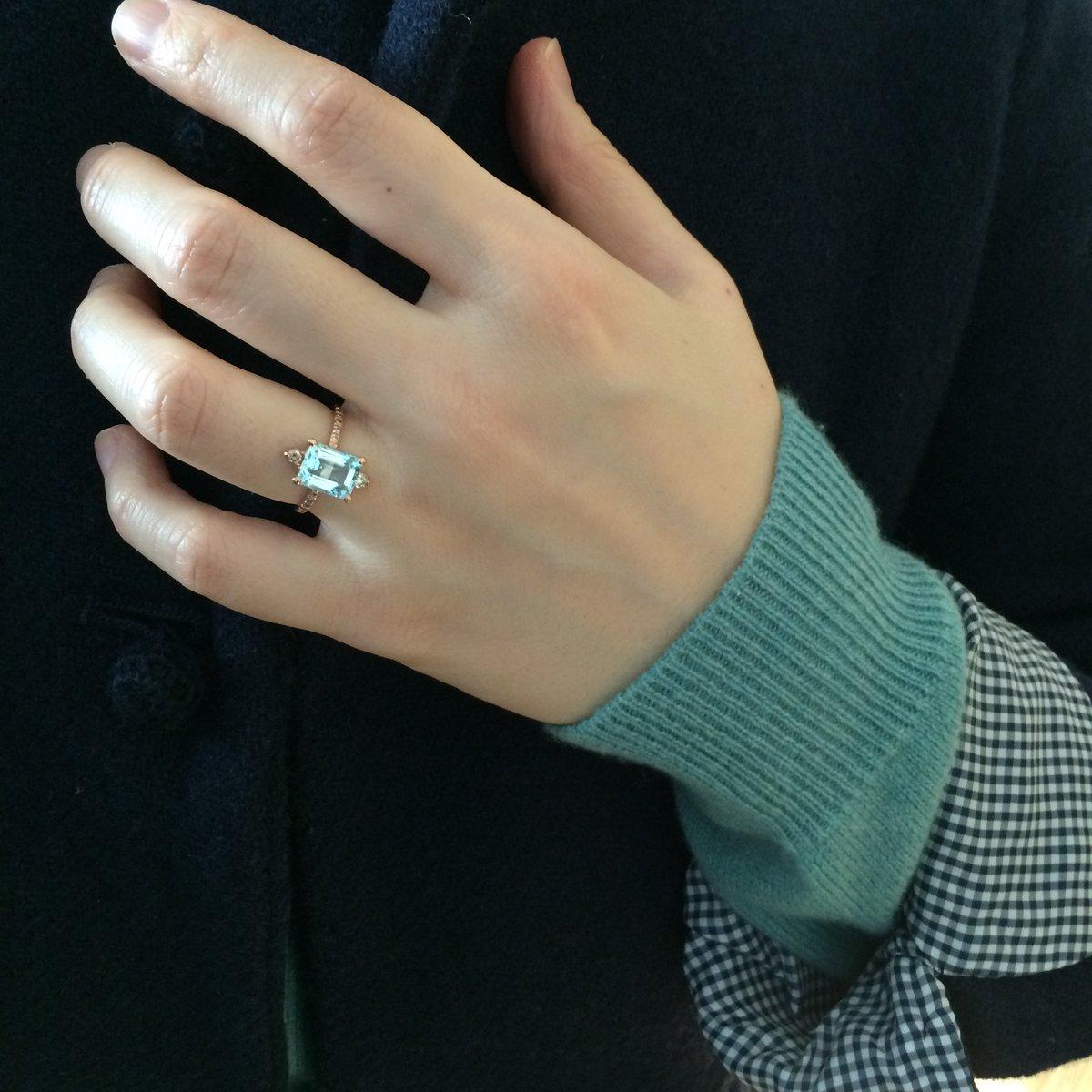 Image of Sparkling Aquamarine Ring