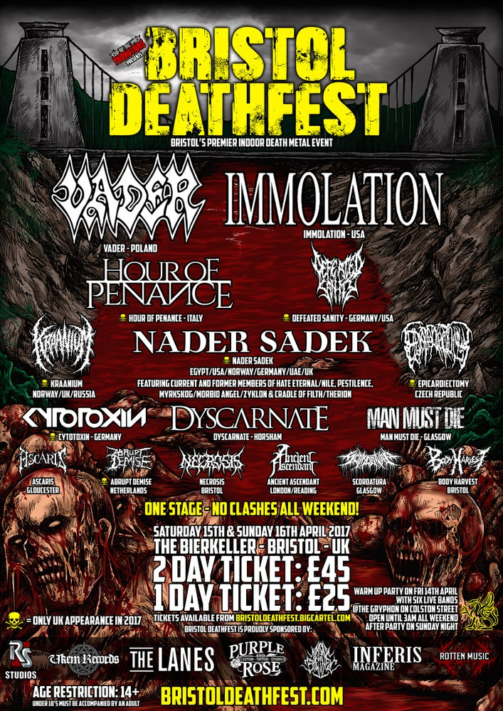 Image of BRISTOL DEATHFEST 1 & 2 DAY E-TICKETS