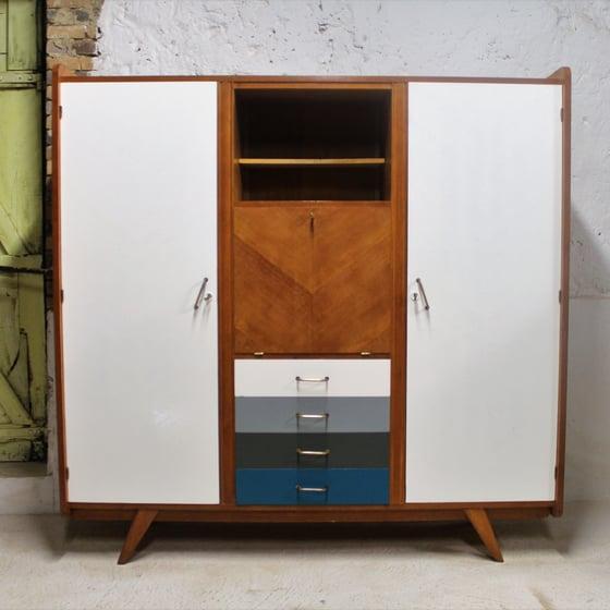 Image of Armoire dressing bureau années 60