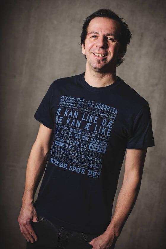 """Image of T-skjorte """"Æ kan like dæ"""" Blå"""