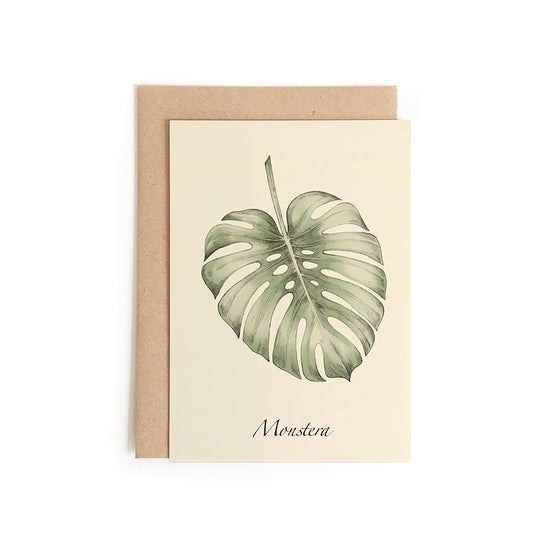 Image of Carte postale Monstera + enveloppe