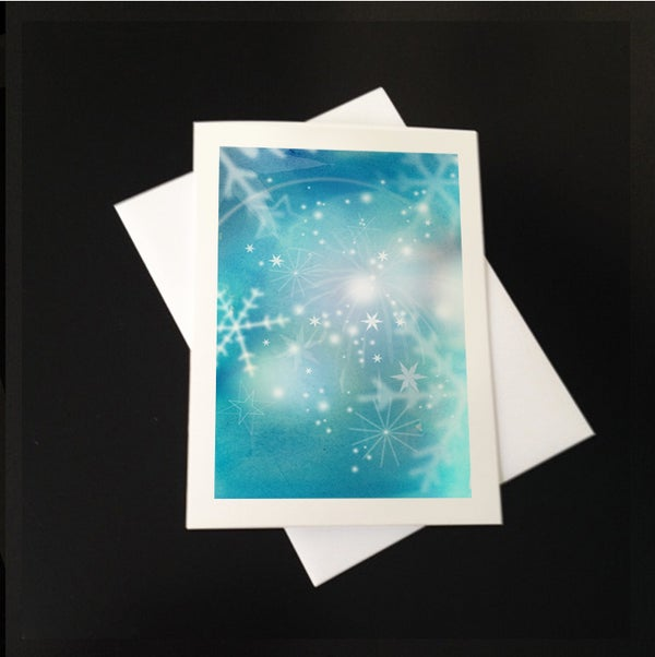 Image of Snowflakes 5-Pack Greeting Card Set