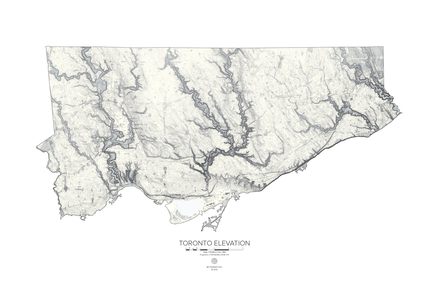 Toronto Elevation Map Mapto