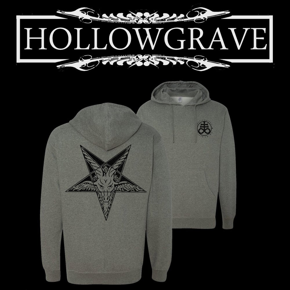 Image of Unholy Ways - Heather Gray Pullover Hood