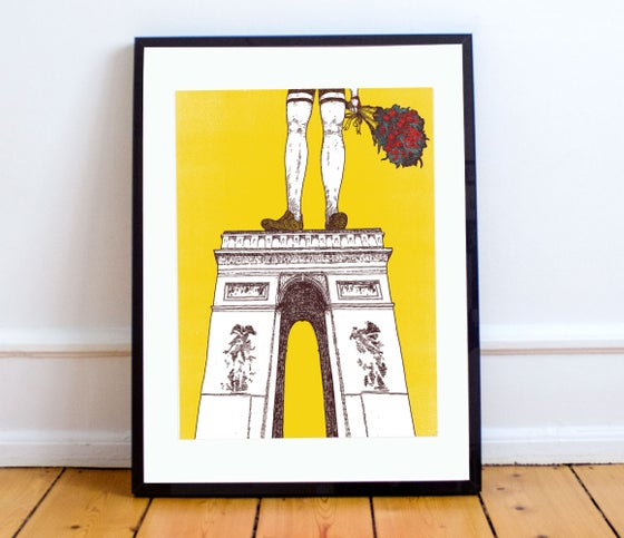 Image of Arc de Triomphe TDF print A4 or A3 - By Matthew Burton