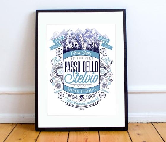Image of Passo dello Stelvio print - A4 or A3