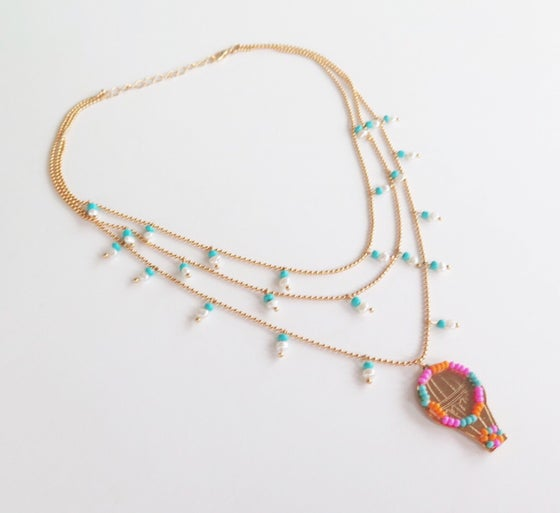 Image of Triple Travel Balloon Necklace