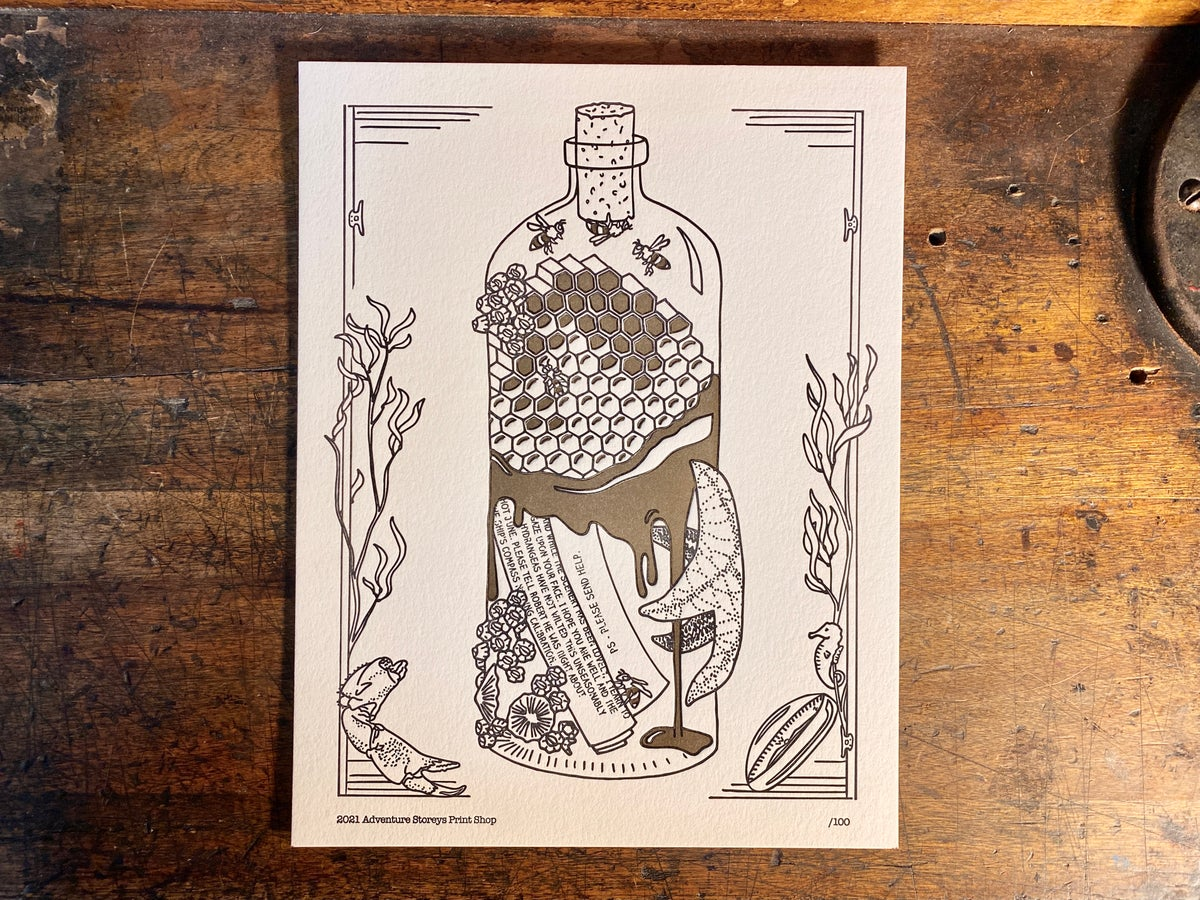 """Image of Please Send Help - Limited Edition Letterpress Print (8.5 x 11"""")"""