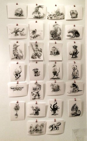 Dinovember #alphaSketch books/originals