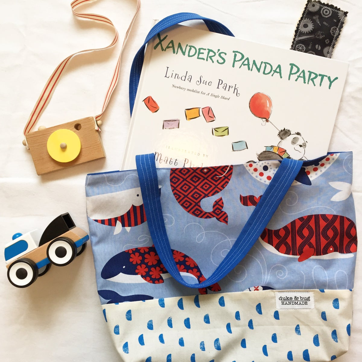 Image of Whale Tote Bags