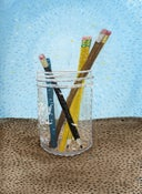 Image of Pencil Jar (Original 9x12 gouache)