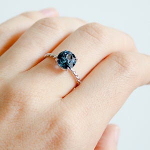 Image of Twisted Drew Ring - London Blue Topaz