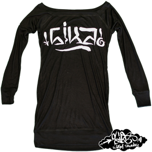 Image of EURO handstyle on galdem long sleeved dress