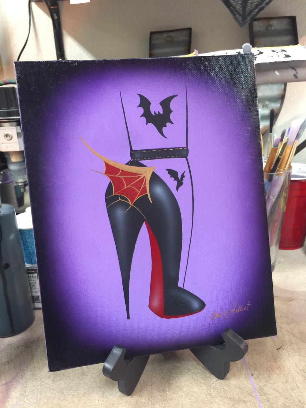 Image of Batty High Heel Painting