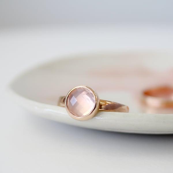 Image of Rose Cut Rose Quartz Ring