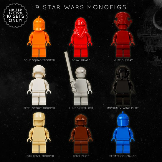 Image of SET OF 9 STAR WARS LEGO MONOFIGS [LIMITED EDITION]