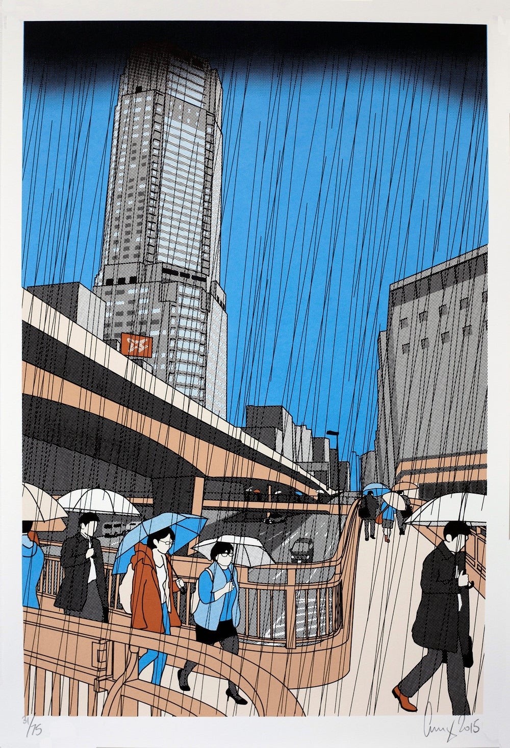 Image of Shibuya in the rain