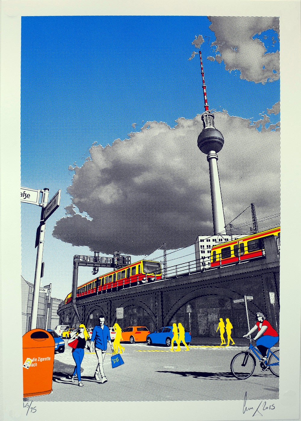 Image of Alexanderplatz screen print