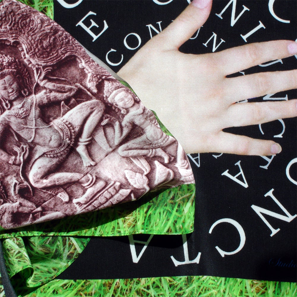Image of Digitally printed silk scarf Sanguine Coniuncta