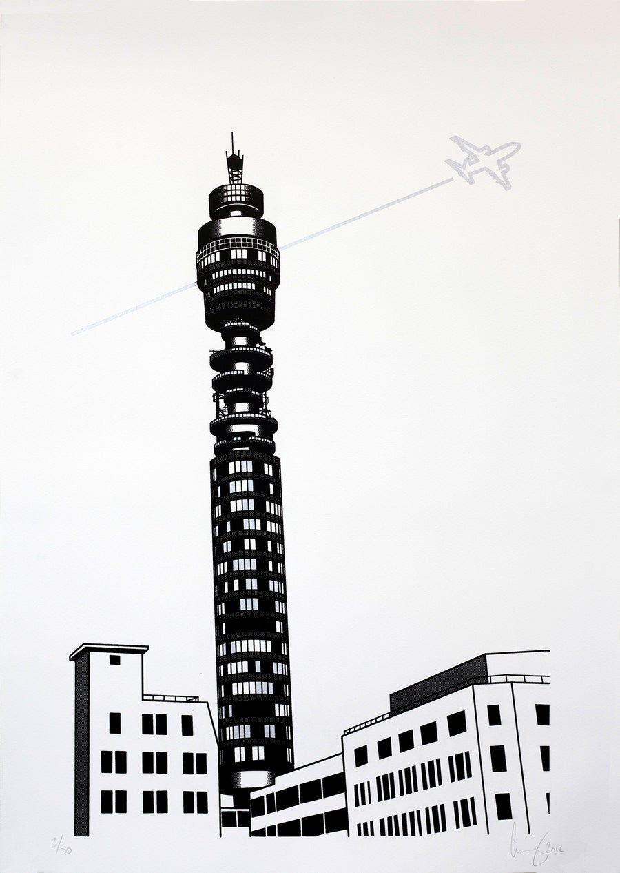 Image of BT Tower screen print