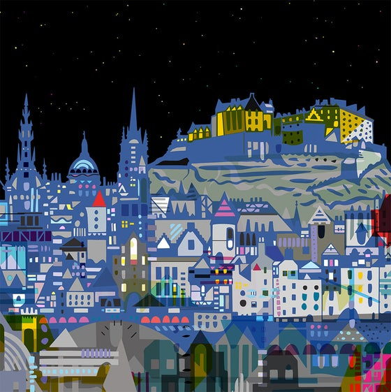 Image of Edinburgh Nights Digital Print