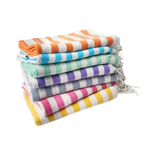 Image of Hand-spun Ethiopian Towel Turquoise