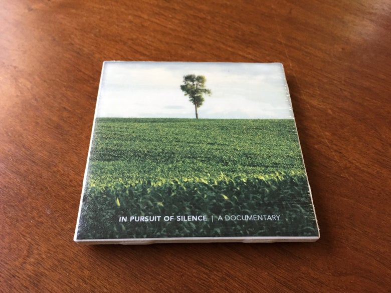 Image of In Pursuit of Silence Ceramic Cup Coaster - Lonely Tree