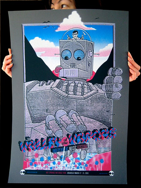 Valley of the Vapors screen printed poster