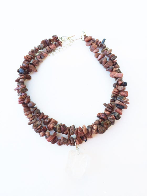 Image of Gemstone Chip and Quartz Choker